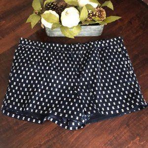 Loft Outlet Navy/White Drawstring Shorts w/Pockets